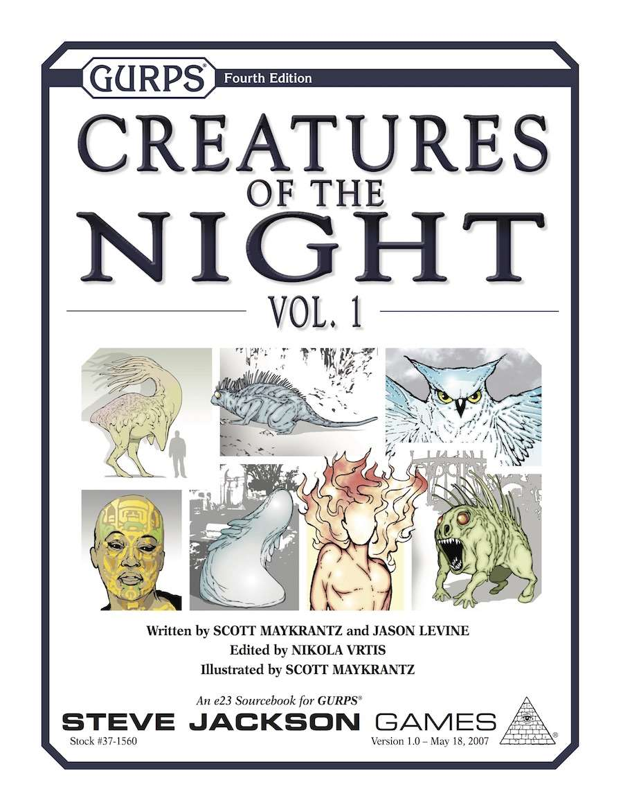 Gurps Creatures Of The Night Vol 1