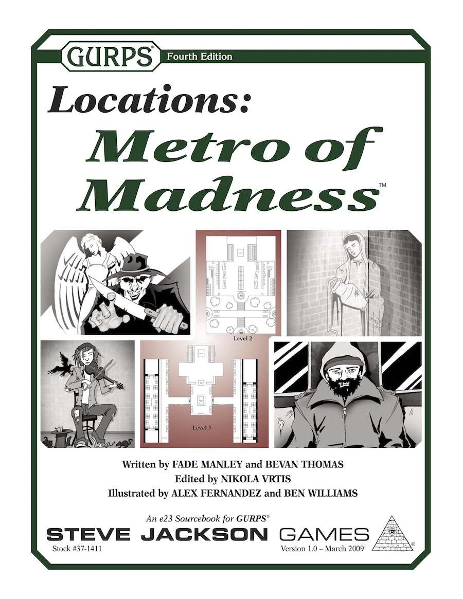 Gurps Locations Metro Of Madness