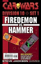 Car Wars Division 10 Set 1 - Firedemon vs. Hammer