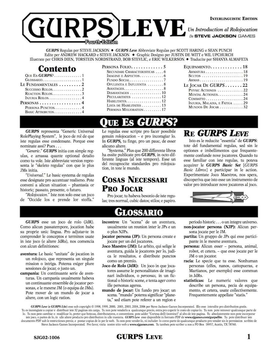Gurps 4th edition lite | role playing games | role playing.