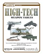 GURPS High-Tech: Weapon Tables