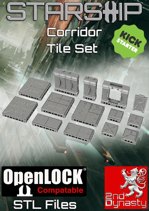 Starship 3D Printable OpenLOCK Deck Plans Corridor Tiles 2nd