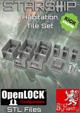 Starship 3D Printable OpenLOCK Deck Plans - Habitation Tiles