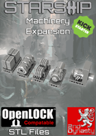 Starship 3D Printable OpenLOCK Deck Plans - Machinery Expansion