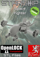 Starship 3D Printable OpenLOCK Deck Plans - Space Fighter