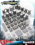 Starship II 3D Printable OpenLOCK Deck Plans - Corridor II Tiles