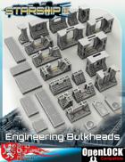 Starship II 3D Printable OpenLOCK Deck Plans - Engineering Bulkhead Tiles