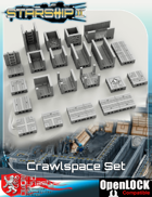 Starship II 3D Printable OpenLOCK Deck Plans - Crawlspaces