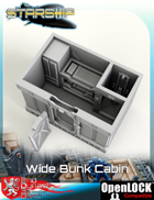 Starship Wide Bunk Cabin