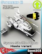 Space Shuttle Alpha Missile Variant