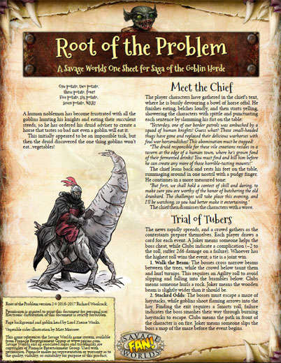 Roots The Saga Of An American Family: Saga Of The Goblin Horde: Root Of The Problem (Savage