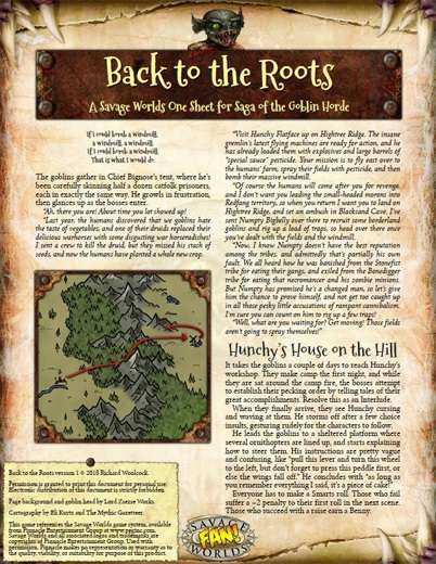 Roots The Saga Of An American Family: Saga Of The Goblin Horde: Back To The Roots (Savage Worlds