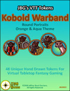 JBG's VTT Tokens Kobold Warband Round Portraits Orange & Aqua Theme