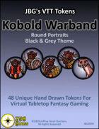 JBG's VTT Tokens Kobold Warband Round Portraits Black & Grey Theme