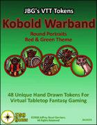 JBG's VTT Tokens Kobold Warband Round Portraits Red & Green Theme
