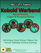 JBG's VTT Tokens Kobold Warband Round Portraits Copper & Turquoise Theme