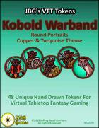 JBG's VTT Tokens Kobold Warband Round Portraits Copper & Turquoise Theme