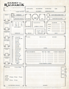 Journey To Ragnarok - Character Sheet