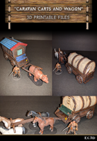 Caravan Carts and Wagons - Modular