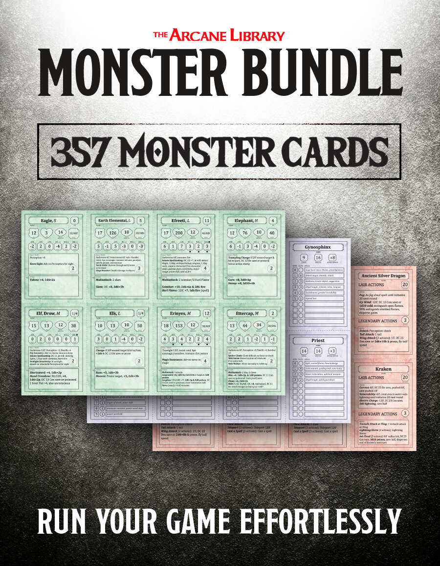 Dynamite image in d&d printable monster cards