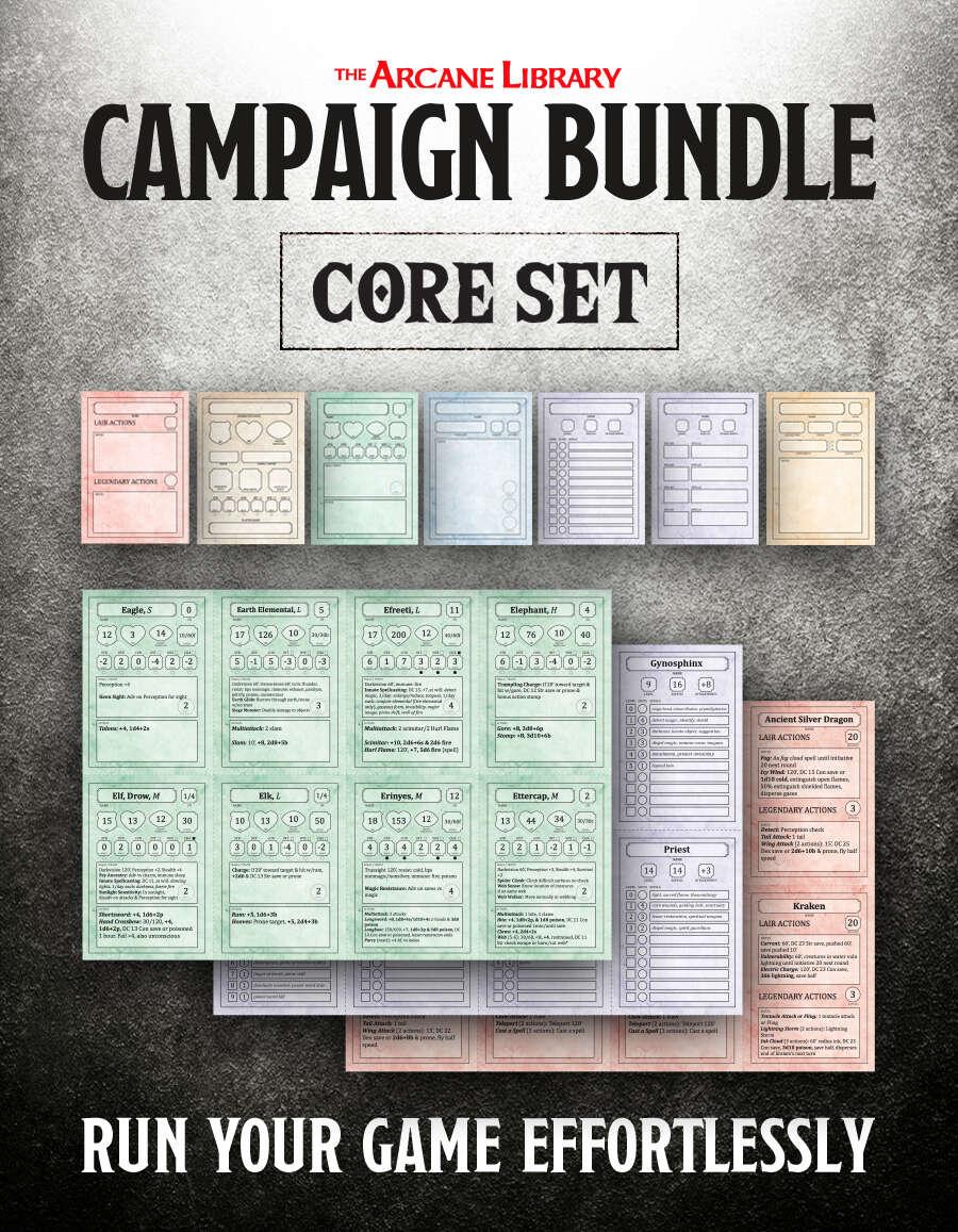 Combat Cards: Campaign Bundle