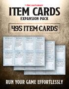 Combat Cards: 495 Pre-Filled Item Cards Expansion Pack (5E)