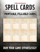 Combat Cards: Fillable Spell Cards (5E)