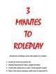 3 Minutes to Roleplay
