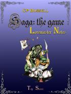Saga: the Game Loremaster Notes ptb