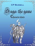Saga: the Game Character Sheet Large Print