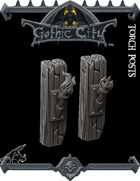 Rocket Pig Games GOTHIC CITY Torch Posts
