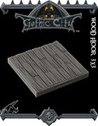 Rocket Pig Games GOTHIC CITY Wood Floor Tile (Tilescape 2.0)