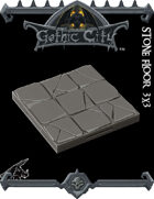 Rocket Pig Games GOTHIC CITY Stone Floor Tile (Tilescape 2.0)