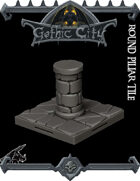 GOTHIC CITY Pillar Tile 2 - JOIN OUR Monster Miniature PATREON