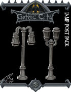 Lamp Posts Gothic City - (Join our PATREON)