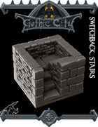 Gothic City Stairs I - (Join our PATREONs)