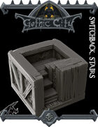 Gothic City Stairs II - (Join our PATREONs)
