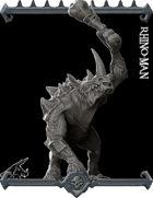 Rhino-men Miniature  -  (Join our PATREON)