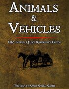 D&D ANIMALS & VEHICLES