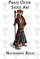 Pirate Otter Stock Art