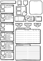 Easy Read Hand Drawn Character Sheet