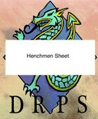 DRPS Henchmen Sheet