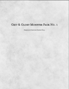 Grit & Glory Monster Pack No. 1