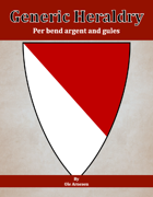 Generic Heraldry: Norman Per bend argent and gules