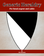 Generic Heraldry: Norman Per bend argent and sable