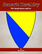 Generic Heraldry: Norman Per bend azure and or