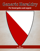 Generic Heraldry: Norman Per bend gules and argent
