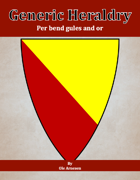 Generic Heraldry: Norman Per bend gules and or