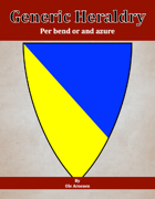 Generic Heraldry: Norman Per bend or and azure
