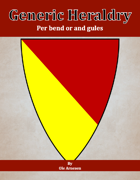 Generic Heraldry: Norman Per bend or and gules